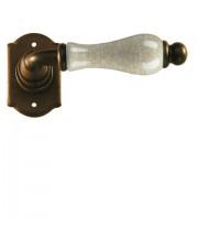 Klamka Praga 2-20 bez dolnej rozety, porcelana kremowa spękana