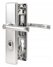 Klamka zewnętrzna JUNO z zabezpieczeniem, F1 srebrny