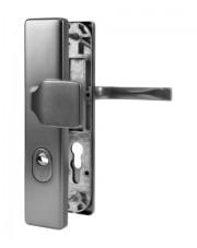 Klamko-gałka zewnętrzna JUNO z zabezpieczeniem, F1 srebrny