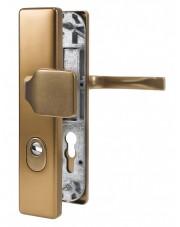 Klamko-gałka zewnętrzna JUNO z zabezpieczeniem, F4 stare złoto