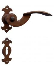 Klamka Gennarina 18 z rozetą na klucz