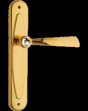 Klamka Elika Crystal bez otworu, pozłacany błyszczący