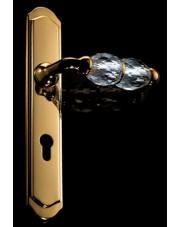 Klamka Crystal z otworem na wkładkę