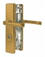 Klamka zewnętrzna JUNO z zabezpieczeniem, F4 stare złoto