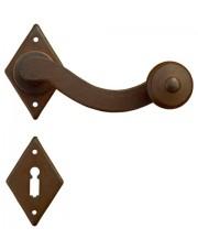 Klamka Prowansja 4-43 z rozetą na klucz